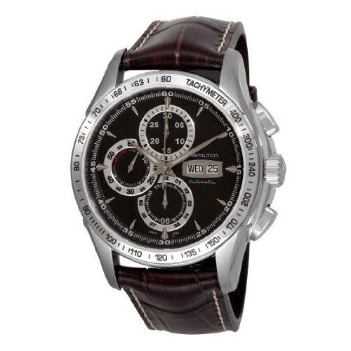 Hamilton H32816531 Lord - Reloj de Pulsera para Hombre, Correa de Piel, cronógrafo, automático, Color marrón