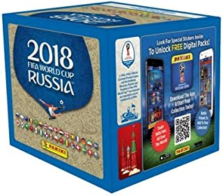 2018 Panini World Cup Russia Soccer Sticker box (50 pk, 250 stickers)