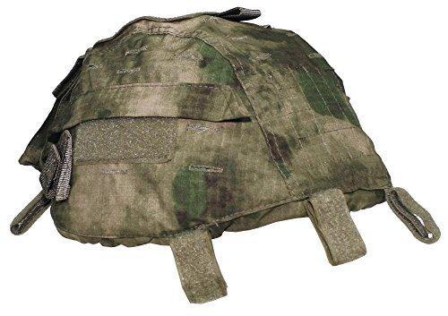 MFH Grössenverstelbarer Helmbezug mit Taschen Helm Bezug Tarnbezug Cover für Stahlhelm Camo Camouflage viele Farben (HDT-camo FG)