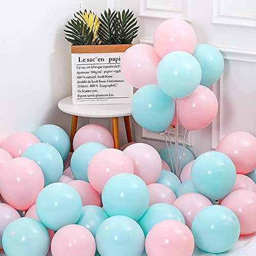 Unisun Macaron - Globos de fiesta (20 unidades, 30,48 cm), color azul y rosa