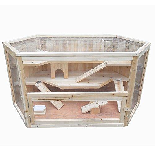 Kaninchenhaus Rattenkäfig Nagervilla Kleintierkäfig Hamsterkäfig Holz Stall Maus - 2