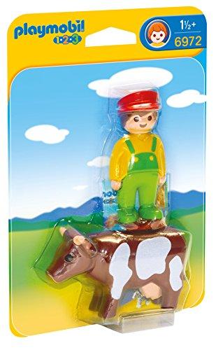 Playmobil 1.2.3 Granjero con Vaca 6972