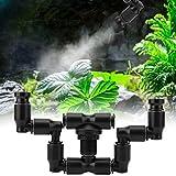 SALUTUYA Réservoir de forêt Tropicale d'arrosage avec Double tête d'arrosage Pratique pour Faire pivoter Le système d'aquarium à 360 degrés