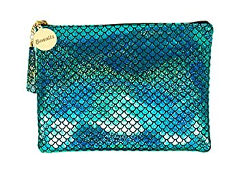 Bewaltz Mermaid Makeup Pouch Handbag Multifunctional Clutch Bag Makeup Bag Cosmetic Bag Makeup...