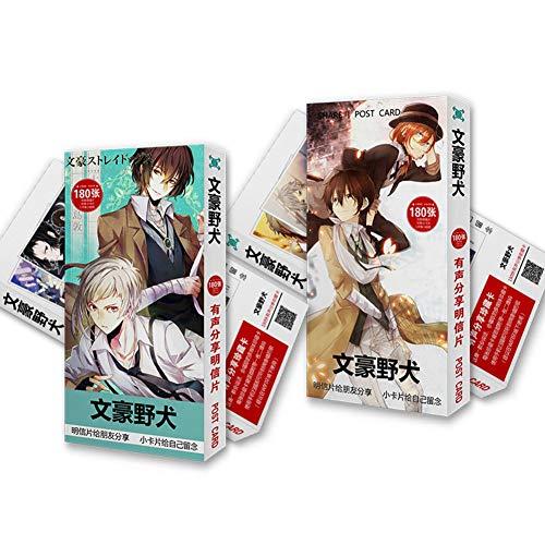 redCherry Anime Demon Slayer Tokyo Ghoul Hatsune Miku Manga Fotokarte Fotobuch Poster Lomo Karten Geschenk Kristall Kartenaufkleber(Bungou Stray Dogs)