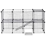 XhuangTech Pet Playpen, DIY Small Animal Cage for Indoor Outdoor Use, Portable Metal Wire Yard Fence for Puppy, Kitten, Guinea Pigs, Bunny, Turtle, Hamster (36 Panels)