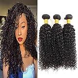 Huarisi 7a cheveux Brésilien 3 paquets cheveux Kinky bouclé humain tissage virginal Brésilien paquets couleur naturelle noire pour la tête entière 12 14 16 pouces