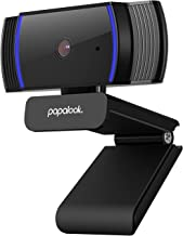 Webcam 1080P Full HD, PAPALOOK AF925 Computer Camera with Microphone, Autofocus Web Cams for Desktop/Laptop/Mac, Works wit...
