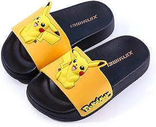 PERRTWDLF Zapatillas de Baño Casa Pikachu Zapatillas niños niñas Verano Anime japonés Pokémon Sandalias Interior Casual An...