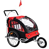 Giantex Child Trailer Bicycle Double Foldable Bike Carrier Jogger...