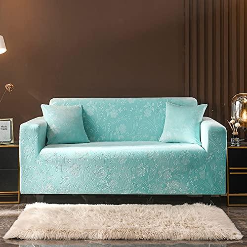 Funda de sofá elástica Gruesa de Felpa de Color sólido Funda de sofá elástica seccional Universal para Sala de Estar A11 2 plazas