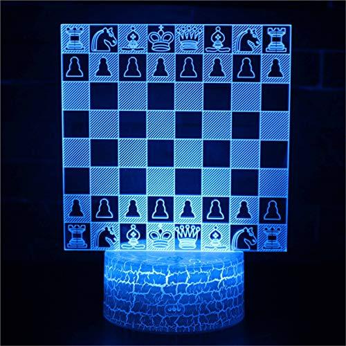 3D ilusión noche luz para niños regalo de cumpleaños ajedrez 16 colores cambiar control remoto lámparas niños lámpara como regalo ideas