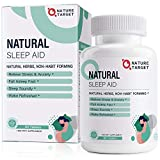 Natural Sleep Aid with Melatonin and L-Theanine - Strong Sleeping Pills for Insomnia,Stress & Anxiety Relief - Fall Asleep Faster & Wake Up Energized,Melatonin Pills for Adults 60 Counts