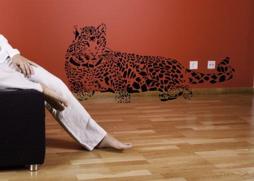 Sticker-Verschicker WANDTATTOO LEOPARD AFRIKA TIGER LÖWE WANDAUFKLEBER WANDSTICKER WALLPRINT (Größe 57 x 118 cm) Nr.138