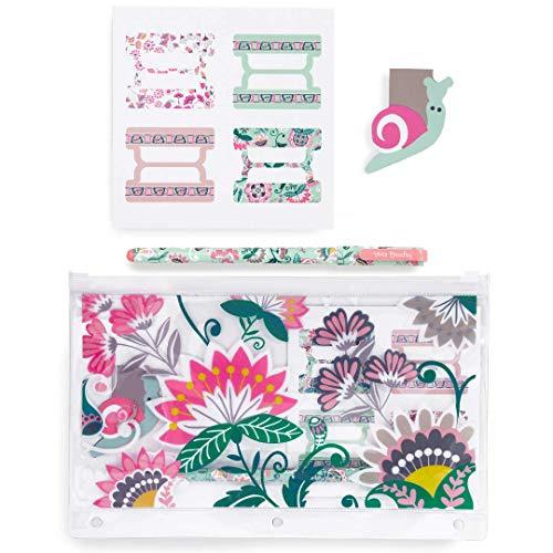 Vera Bradley Planner Bonus Pack Mint Flowers One Size
