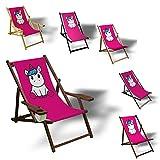 Printalio - Pink Einhorn - Liegestuhl