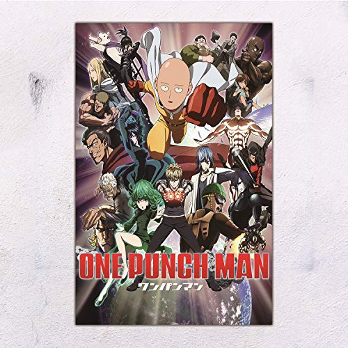 28cmx43cm Anime One-Punch Man Poster-Room Decoration-Cafe Bar-Home Decoration Theme, 11x17inches
