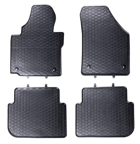 DAPA Prime Gummimatten für Touran bis 2015 Gummi Fußmatten Komplettset Schwarz perfekt passend mit Rand 1103731