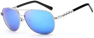Fashion Frog Mirror Polarized Mens Sunglasses Classic Frameless Fashion Sunglasses Retro (Color : E Blue, Size : Free)