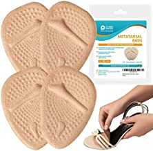 Metatarsal Pads Ball of Foot Cushions - 2 Pairs Beige Soft Gel Insoles Supports, Forefoot Cushioning Pads Shoe Inserts for Women - Fast Pain Relief & All Day Comfort, One Size Fits for High Heel Shoes