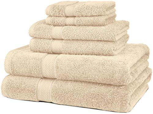 Pinzon 6 Piece Blended Egyptian Cotton Bath Towel Set - Cream