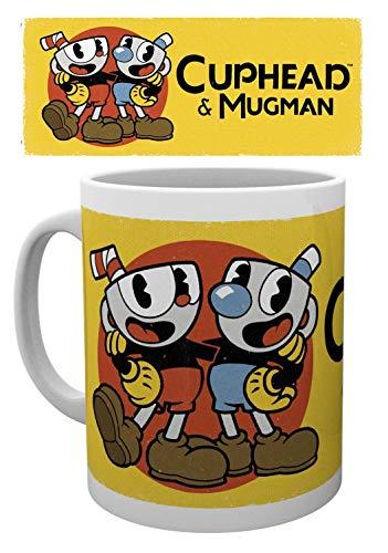 1art1 Cuphead, Cuphead & Mugman Solo Foto-Tasse Kaffeetasse (9x8 cm) Inklusive 1x Überraschungs-Sticker