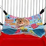 Pbzydu Hamac Parfait de Couleur vive 2 pièces/Ensemble lit de Hamster, hamac, pour écureuil de Cochon d'Inde de Planeur de Sucre de Hamster