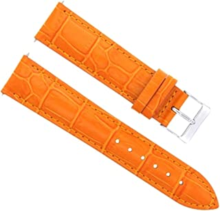 20MM LEATHER WATCH BAND STRAP FOR 36MM ROLEX DATEJUST 1601 16013 16014 ORANGE
