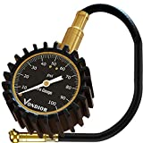 Tire Gauge - (0-100 PSI) Heavy Duty Tire Pressure Gauge. Certified...