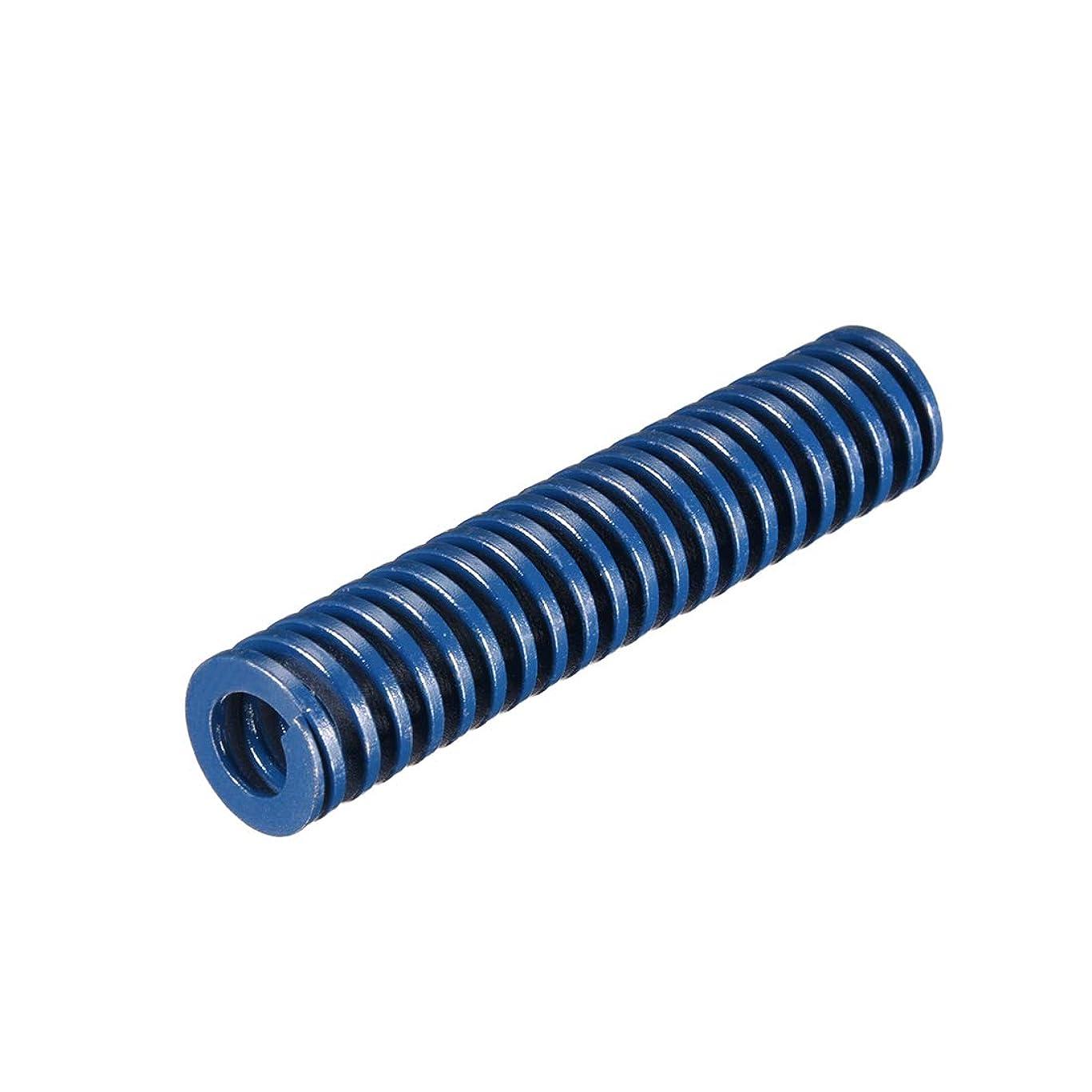 シネマ差状況uxcell 圧縮成形型ばね 16x75mm ロング スパイラル スタンピング 軽負荷 クローズエンドデザイン ブルー 1個入り