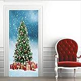 Diy Creative 3D Christmas Tree Door Paste Reacondicionado Papel Autoadhesivo Dormitorio Habitación Pasillo Liquidación Secreta Decorativo Pvc Papel Pintado Pegatinas