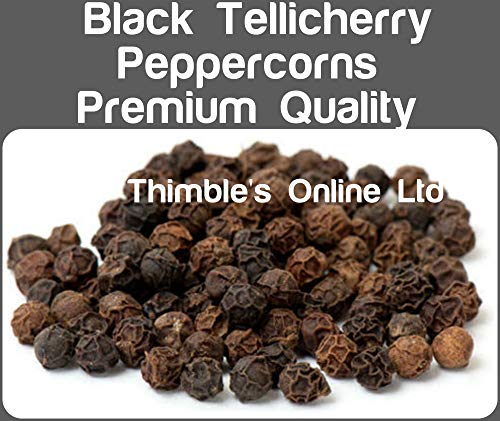 Thimbles Online Ltd Black Tellicherry Peppercorns Whole 50g Premium Quality Free P/&P Whole Black Peppercorns