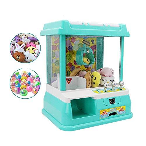 Máquina de grúa de juguete, máquina de juego de muñecas que funciona con monedas, bola de captura de simulación, material seguro no tóxico, plug-in USB de volumen ajustable, para regalos de niños