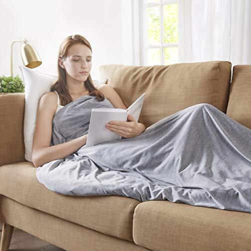 Sommer Gewichtsdecke mit abnehmbaren Coolmax Bezug und Baumwolle Innerdecke Therapiedecke Schwere Decke für Erwachsene Schafdecke Schwer Weighted Blanket, 150x200cm, 9kg