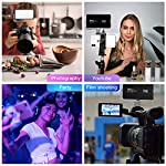 IVISII G2 Pocket RGB Camera Light,32Wh Built-in 4300mAh Rechargeable Battery 360°Full Color Gamut 9 Light Effects,2600… 12 【Video Conference Light】The video conference lighting come with Adjustable Tripod Stand is equipped full color gamut, two-color temperature lamp beads - high quality, high lumen, and high definition lamp bead. The light is softer, uniform, with more realistic colors which is good Laptop light for video conferencing. 【Portable Pocket Video Light】11.3oz(weight) ,5.6inch*3.1inch*0.6inch(size), compact and lightweight for carrying even in pocket. As a multifunctional mini photography fill light, it is perfect light for video conferencing,video shooting, interview, live streaming,YouTube, studio lighting. 【Camera light for photography】Hue adjustable is 0-360 full color gamut; Color saturation is adjustable from 0%-100%; Brightness is dimmable from 0%-100%; Color temperature is dimmable from 2600K(warm) to 10000K(cold); Built-in LCD display for accurate readings, makes your work more effectively.