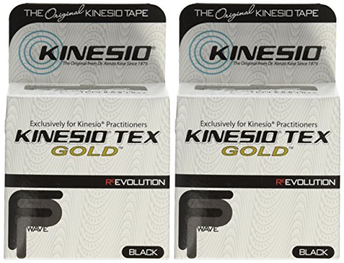 Kinesio Taping - Kinesiology Tape Tex Gold FP - 2 Pack - Black - 2 in.
