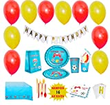 Video Game Party Supplies Birthday Decorations Boys Birthday Party Happy Birthday Banner Backdrop Birthday Goodie Bag Tablecloth Plates Cups Napkins Utensils Balloons Ribbons Serves 16 Guest