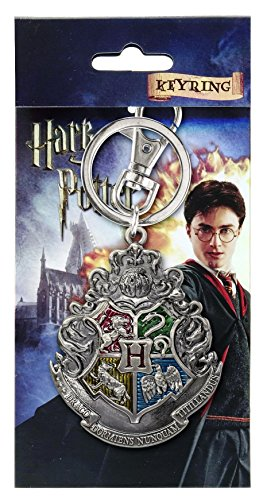 Harry Potter Hogwarts School Crest Pewter Keychain,Multi-colored