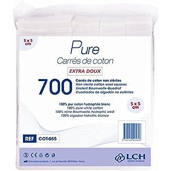 Carr/és De Coton 100/% Coton Hydrophile Le Sachet De 200 Carr/és 8 X 10 Cm By Antigua Health Care Cot-810