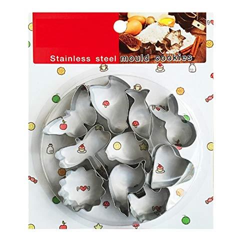 Kaishuai Set di Formine per Biscotti Stampi Biscotti Tagliabiscotti Coniglietto Pasqua, per Decorazioni in Fondente, Decorazioni di Dolci di Pasticceria (Animali 10PCS) Tagliabiscotti