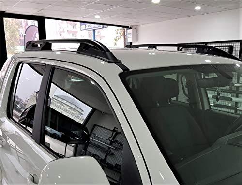 Schwarz Aluminium Dachreling Paar Dach Bars passend für VW Amarok (10+)