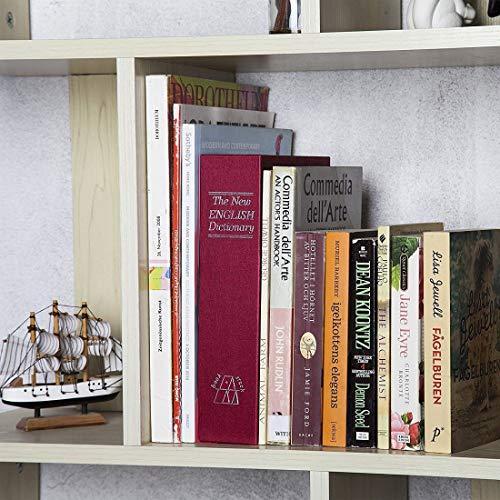 PACKNBUY Book Safe Key Locker Plastic Jewellery/Cash Box (Red, Standard Size)