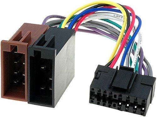 Cable Faisceau Connecteur ISO JVC autoradio 16 pins
