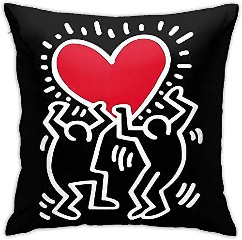 Keith Haring - Federa per cuscino da 45 x 45 cm, per divano letto