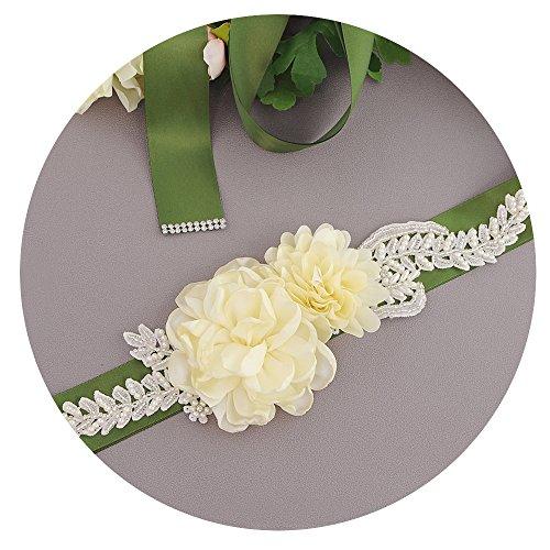 TOPQUEEN bloemenhuwelijksgordel parels riem baljurk glitter bruidsgordel strass zwart band (S251)