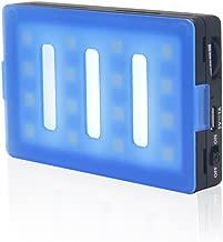 Venidice Mcoplus LUX-1600 Mini LED Video Light Panel On Camera Light Portable CRI95 Bi-Color with 16 LED Dimmable Bulbs for DSLR Camera Mobile Phone Camcorder Lighting