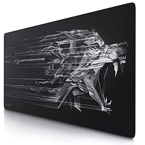 TITANWOLF - Alfombrilla de Ratón de Gran Tamaño 1200x600mm - Mouse Pad Gaming XXXL - para Precisión y Velocidad en Juegos - Antideslizante - Superficie de Tejido - para Ratón y Teclado