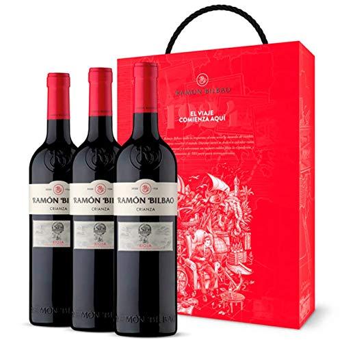 Estuche Vino Regalo Ramon Bilbao Crianza - Cosecha Privada - 3 Botellas...