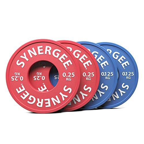 Synergee Rubberized Fractional Plates 0.125 & 0.25 kg Set –...