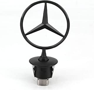3D Matte Black Logo,3D Car Frond Hood Ornament Emblem Black for Mercedes Benz Ben